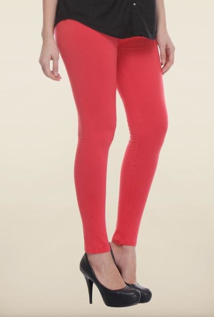 W Coral Solid Leggings