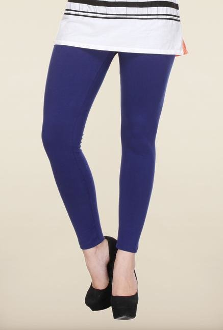 W Navy Cotton Leggings