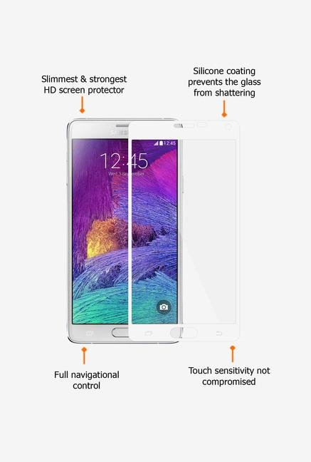 Amzer Kristal Tempered Glass White for Samsung Note 4