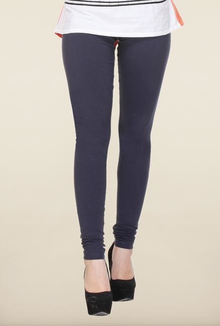 W Dark Navy Solid Leggings