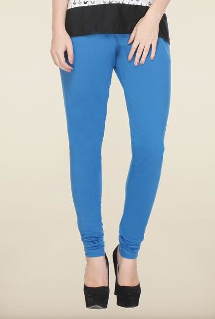 W Blue Solid Leggings