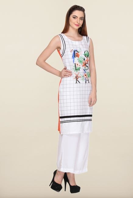 W White Cotton Kurti