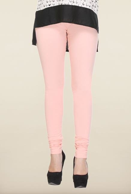 W Baby Pink Solid Leggings