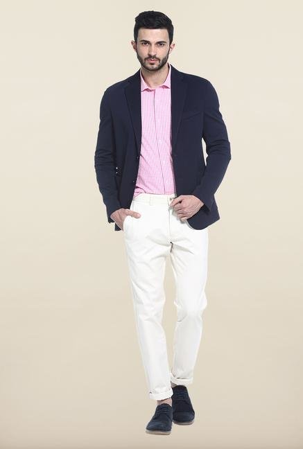 Basics Navy Slim Fit Casual Blazer