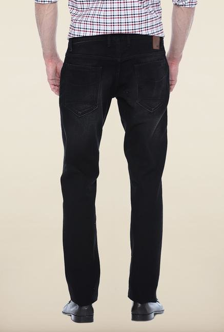 Basics Black Lightly Washed Slim Fit Jeans