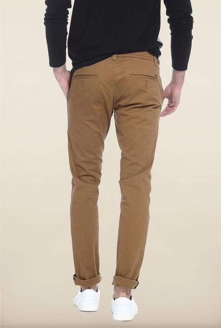 Basics Mid Brown Solid Chinos