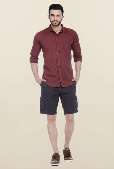 Basics Black Solid Casual Shorts