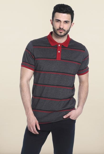 Basics Dark Grey Polo T-Shirt