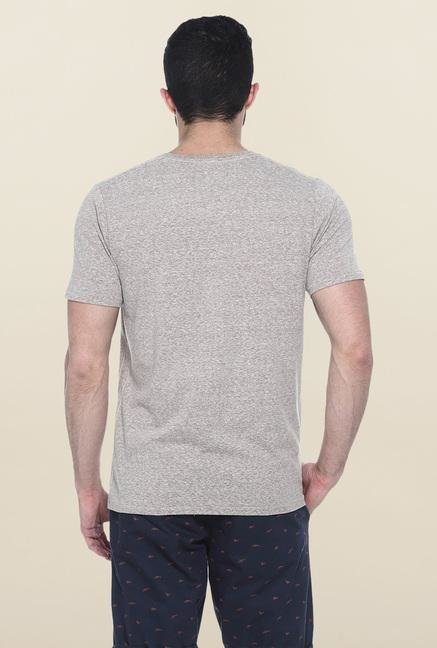 Basics Brown Short Sleeves Solid T-Shirt