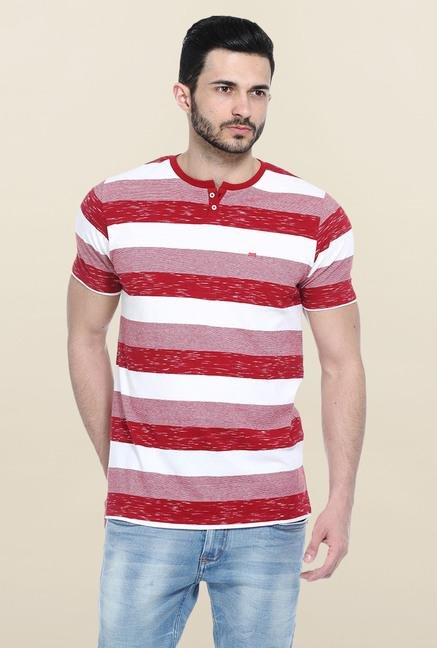 Basics Red & White Stripes T-Shirt