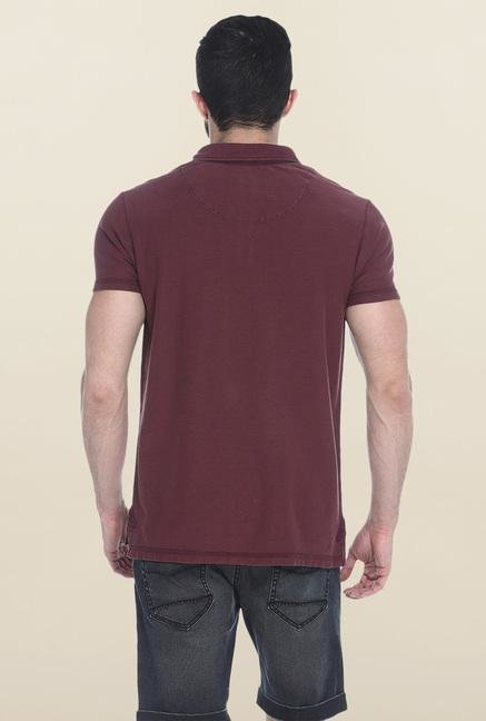 Basics Maroon Polo T-Shirt