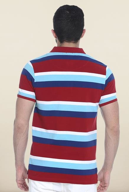 Basics Red & Blue Polo T-Shirt