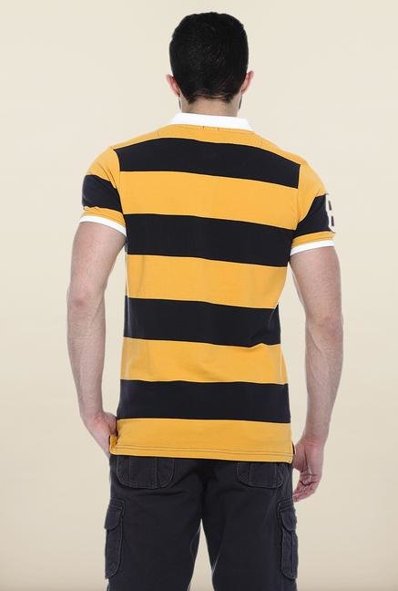 Basics Yellow & Black Polo T-Shirt