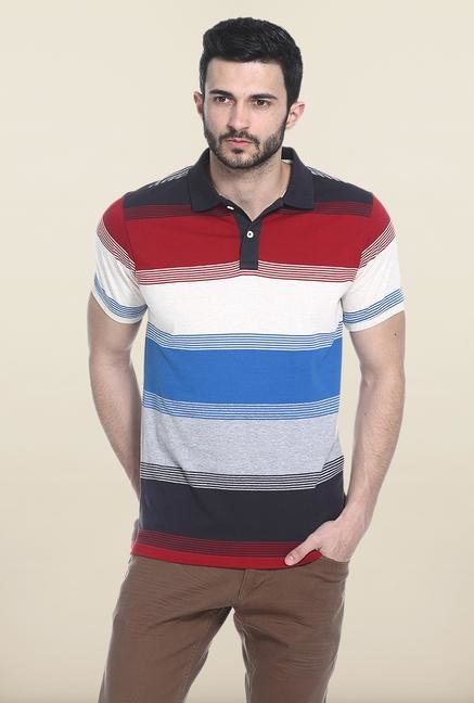 Basics Multicolor Stripes Polo T-Shirt