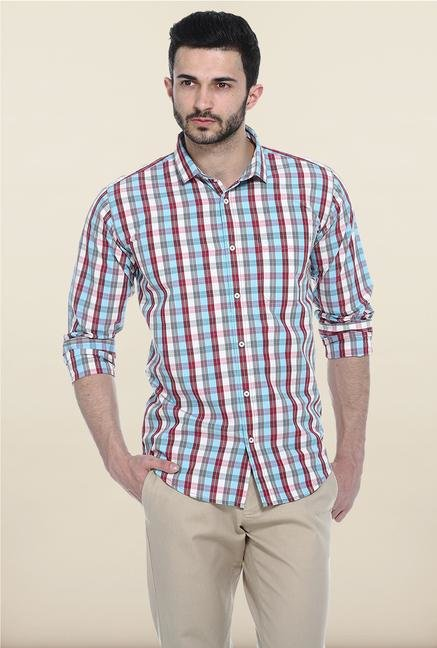Basics Multicolor Slim Fit Casual Shirt
