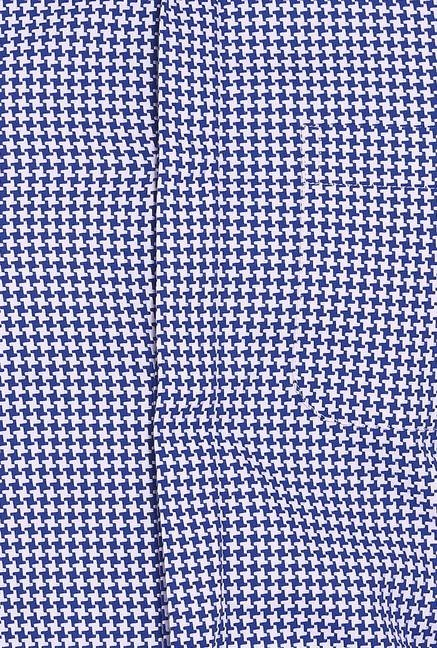 Basics Blue And White Slim Fit Shirt