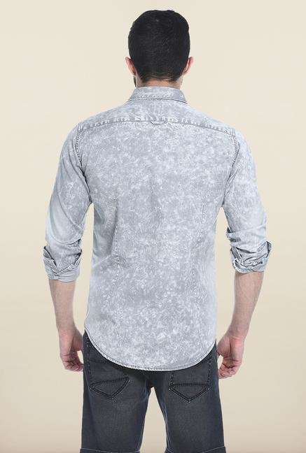Basics Grey Ombre Casual Shirt