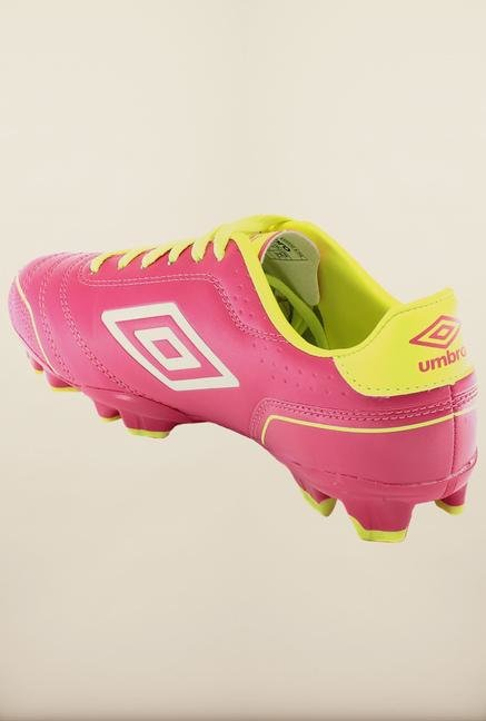 Umbro Classico 3 Pink & Yellow Football Shoes