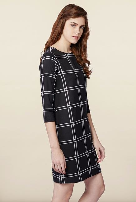 AND Black Checks Casual Dress