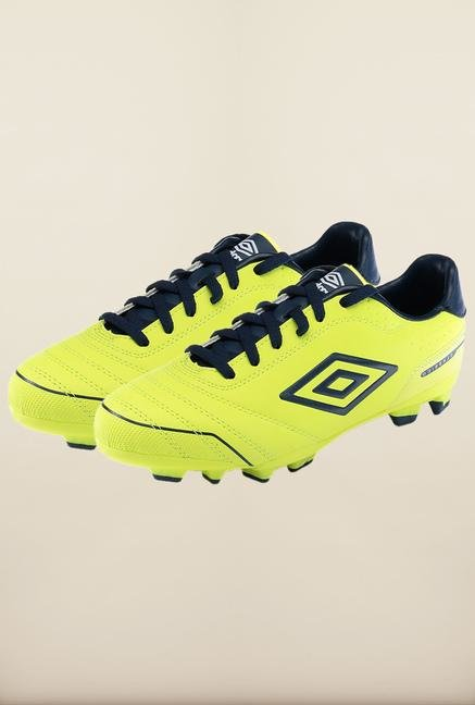 Umbro Classico 3 Yellow & Blue Football Shoes