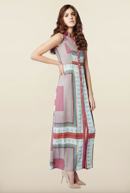 AND Multicolor Printed Casual Dress