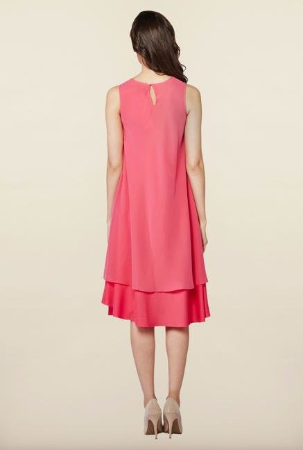 AND Pink Solid Casual Dress