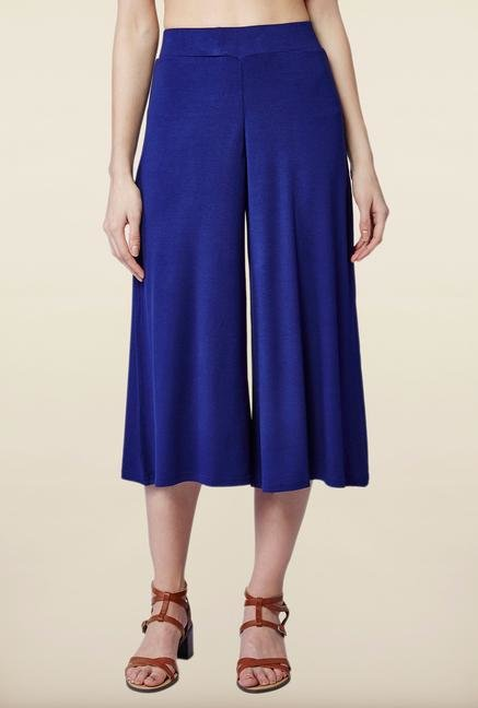 AND Navy Solid Culottes