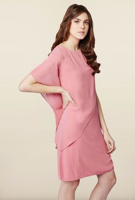 AND Pink Asymmetric Dress