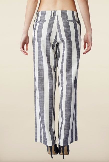AND Grey Striped Palazzo