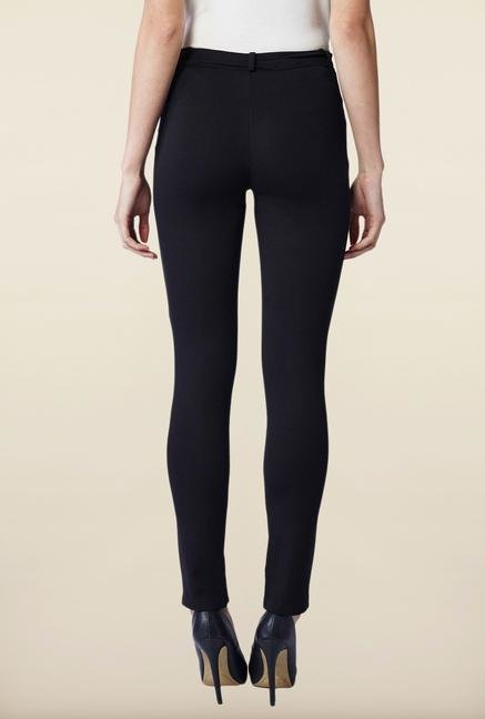 AND Black Solid Trouser