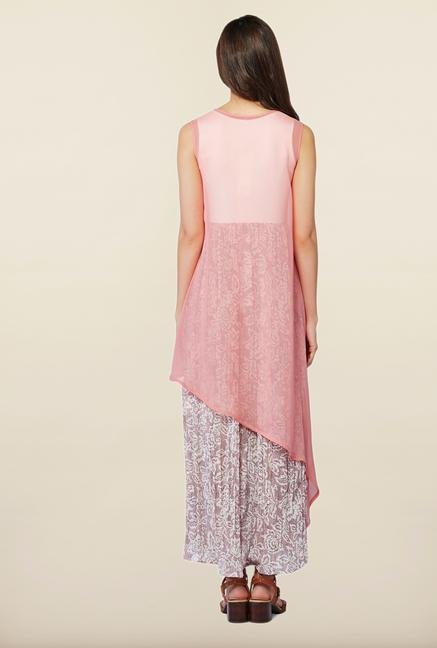 AND Pink Printed Casual Dress