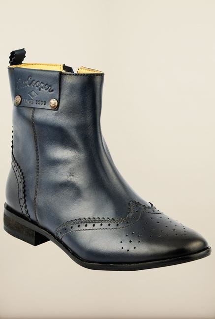 Lee Cooper Blue Biker Boots for Women