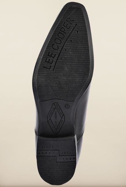 Lee Cooper Black Leather Slip-on Formal Shoes