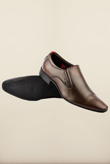 Lee Cooper Brown Leather Slip-on Formal Shoes