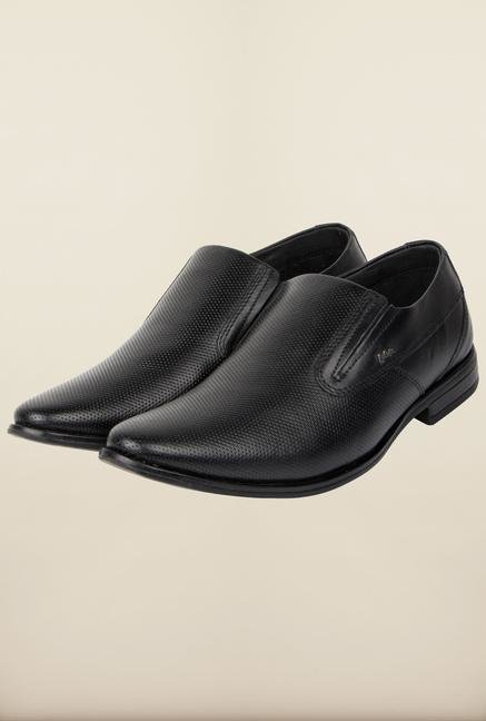 062a3f5e0 Buy Lee Cooper Black Leather Slip-on Formal Shoes Online at best price at  TataCLiQ