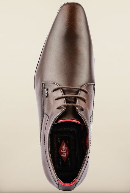 Lee Cooper Brown Formal Shoes
