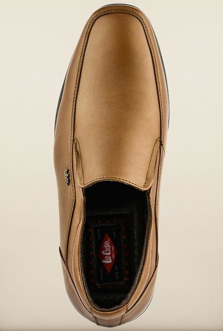 Lee Cooper Tan Leather Slip-on Formal Shoes