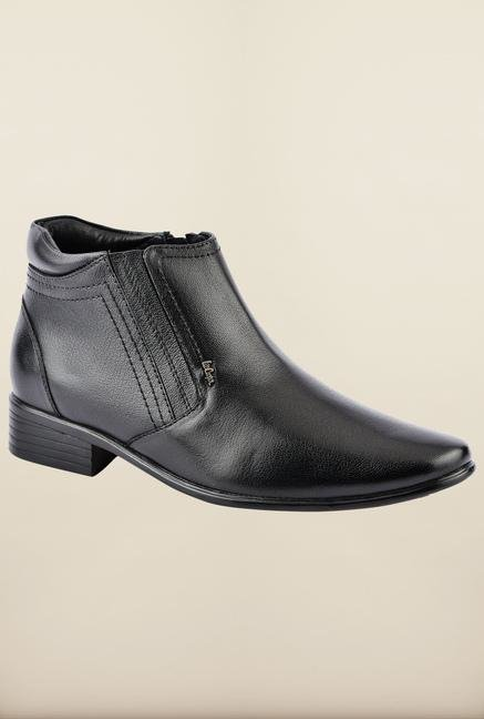 Lee Cooper Black Ankle Strap Boots