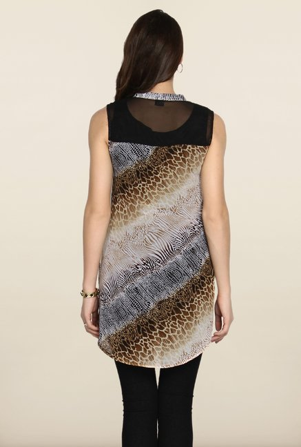 Soch Black And Brown Printed Tunic