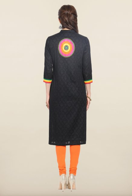 Soch Black Cotton Kurti