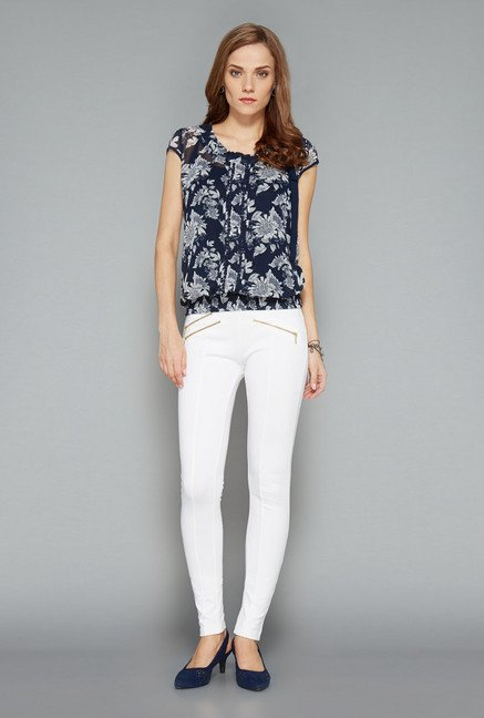Wardrobe Navy Floral Print Top