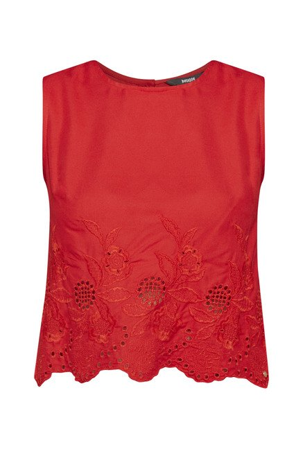 Nuon by Westside Red Floral Printed Top