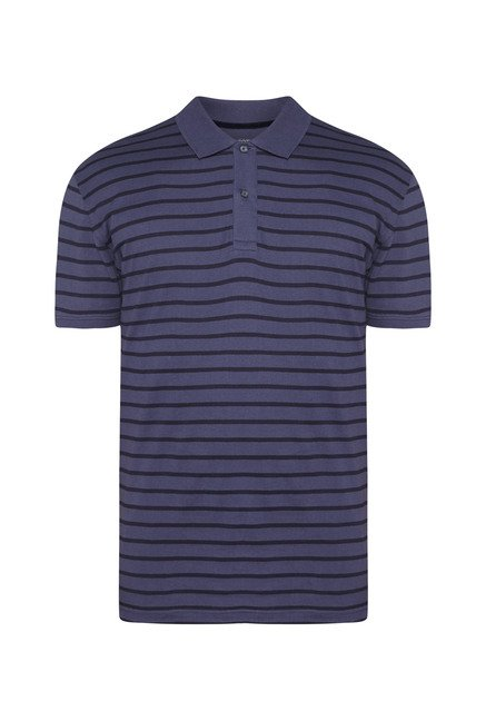 Ascot Dark Navy Striped T-Shirt