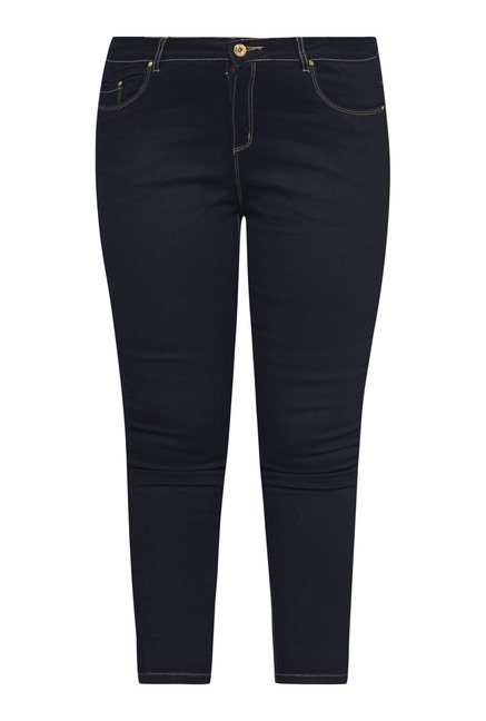 Gia Navy Solid Jeans