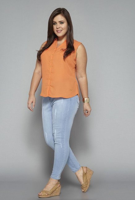 Sassy Soda Light Blue Distressed Jeans