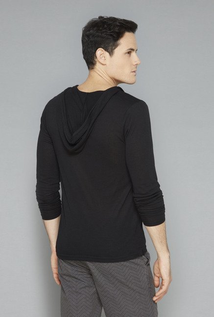 ETA Black Solid T-Shirt