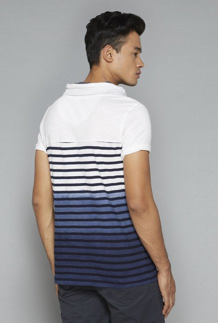 Nuon by Westside Blue & White Striped T-Shirt