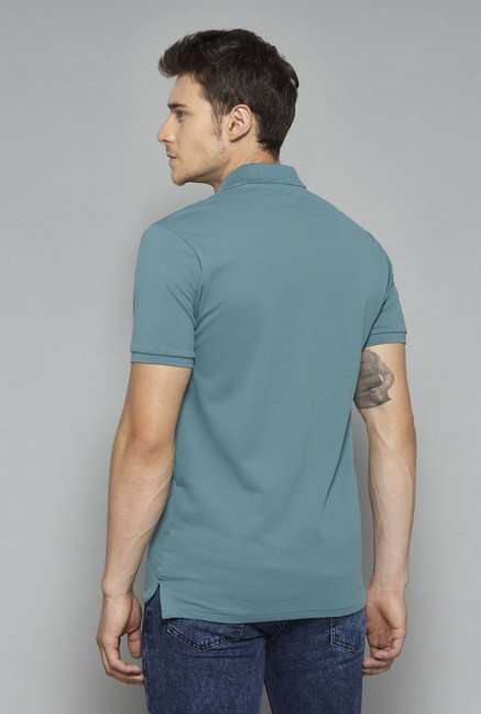 Nuon by Westside Green Solid T-Shirt