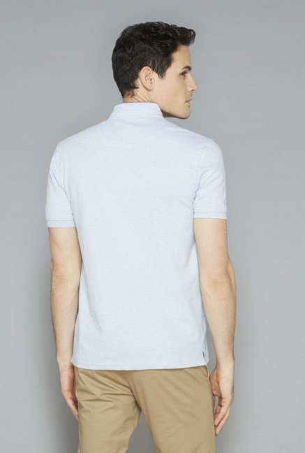 Ascot Blue Solid T-Shirt
