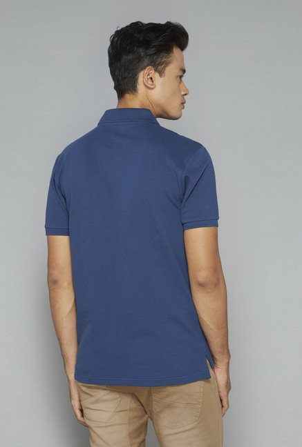 Nuon by Westside Indigo Solid T-Shirt